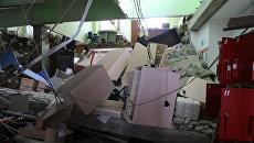 Обрушение перекрытий в магазине Магнит в Кургане. 10 апреля 2018
