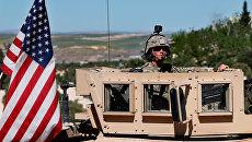 Американский военный на севере Сирии. Архивное фото