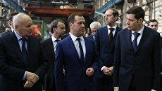 Рабочая поездка премьер-министра РФ Д. Медведева в Санкт-Петербург