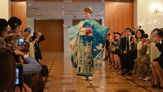 Презентация японского кимоно для олимпиады в Токио