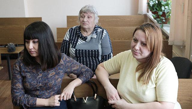 Екатерина Туганова, Зоя Туганова и Люция Рамазанова во время заседания в Центральном районном суде Челябинска