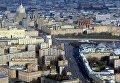 Вид с 89-го этажа Башни Федерация-Восток делового комплекса Москва-Сити, где открылась самая высокая смотровая площадка в Европе