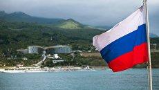 Российский триколор в Крыму