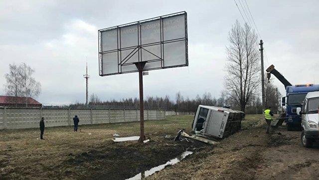 ДТП с участием пассажирского автобуса на участке дороги Калининского шоссе в городе Торжке Тверской области