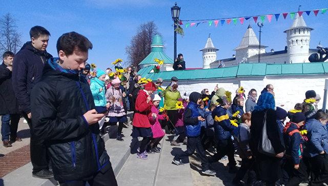 Крестный ход в честь открытия музея семьи Николая II в Тобольске