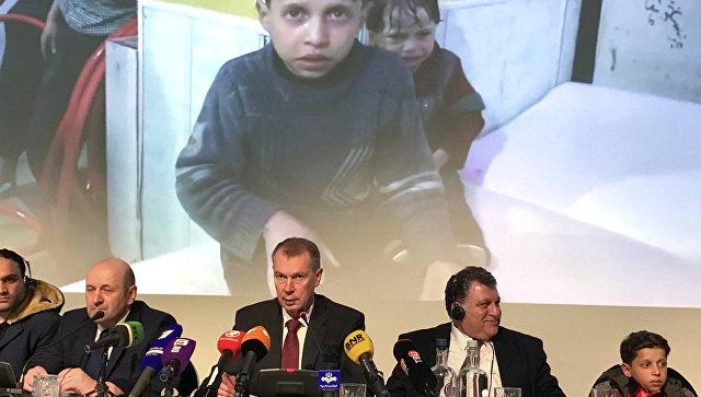 Брифинг представителей РФ и свидетелей химатаки в Сирии в ОЗХО. 26 апреля 2018