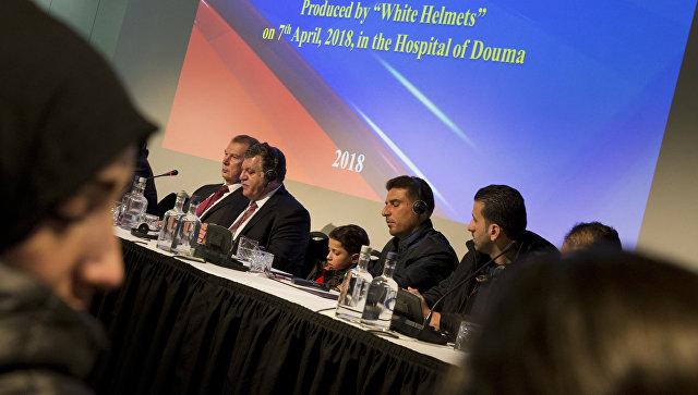 Пресс-конференция по вопросу применения химического оружия в Сирии в Гааге. 26 апреля 2018