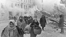 Жители блокадного Ленинграда. Архивное фото
