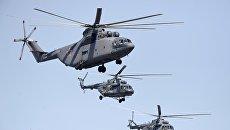 Вертолеты Ми-26 и Ми-8. Архивное фото