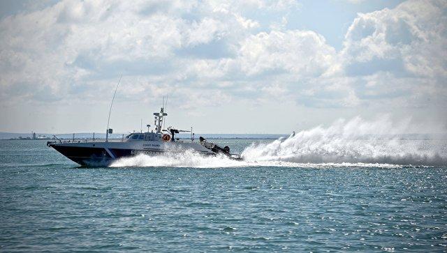 Патрульный катер береговой охраны Пограничной службы ФСБ России в Керченском проливе. Архивное фото