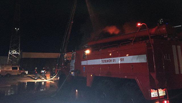 Пожар в торговом центре в городе Ноябрьск. 5 мая 2018