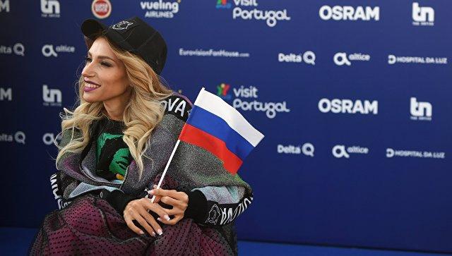 Певица Юлия Самойлова на церемонии открытия 63-го международного конкурса песни Евровидение - 2018 в Лиссабоне