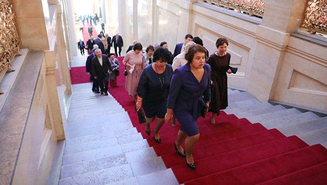Приглашенные на церемонию инаугурации президента РФ Владимира Путина. 7 мая 2018