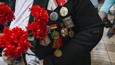 Участник акции Бессмертный полк
