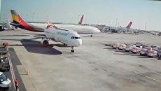 В Сети появилось видео столкновения самолетов в аэропорту Стамбула