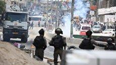 Уличные протесты в Палестине против переноса посольства США в Иерусалим. Архивное фото