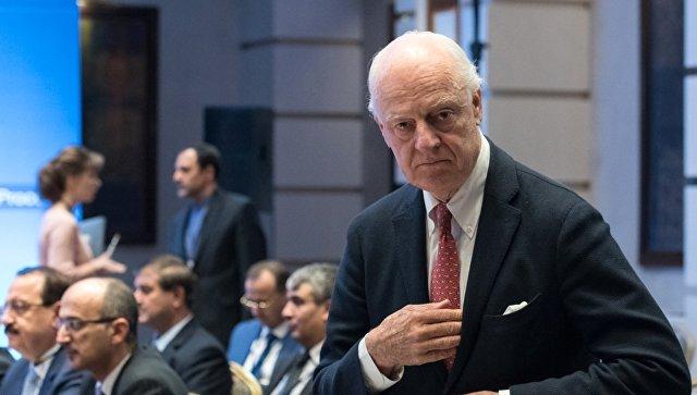 Специальный посланник генерального секретаря ООН по Сирии Стаффан де Мистура. Архивное фото
