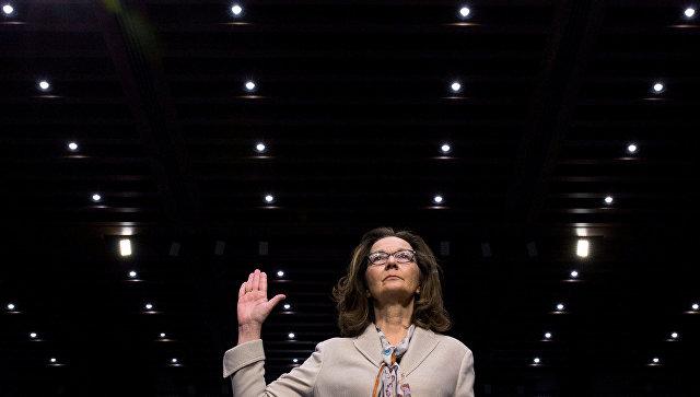 Кандидат на пост директора ЦРУ Джина Хаспел во время слушаний в Конгрессе США. 9 мая 2018