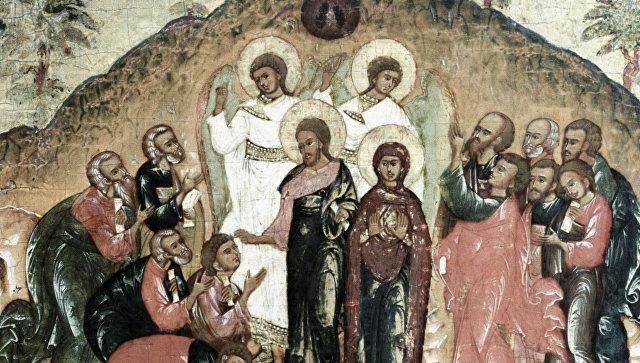 Икона Андрея Рублева «Вознесение»