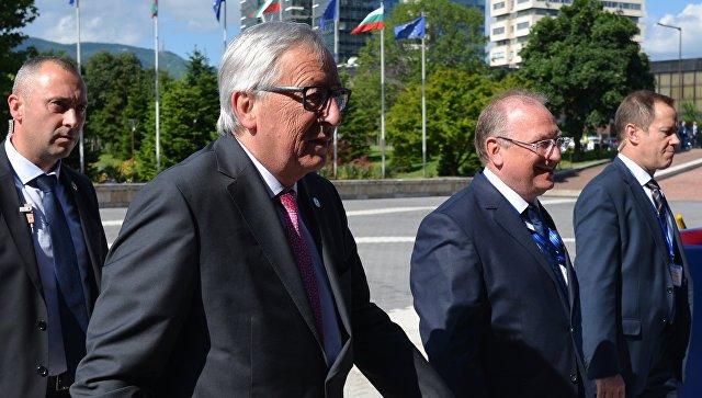Председатель Европейской комиссии Жан-Клод Юнкер перед саммитом ЕС в Софии. 17 мая 2018