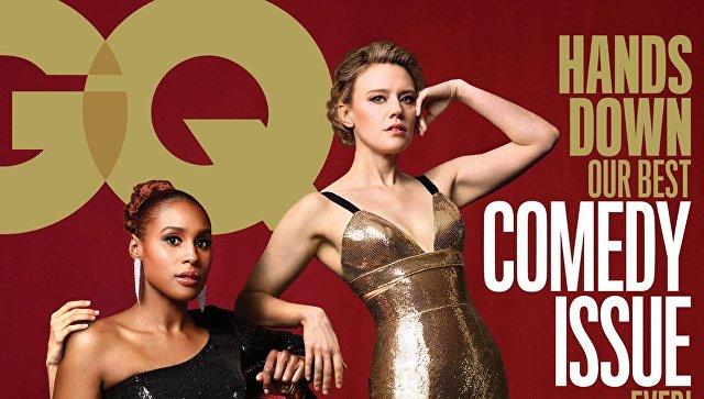 Обложка комедийного выпуска журнала GQ