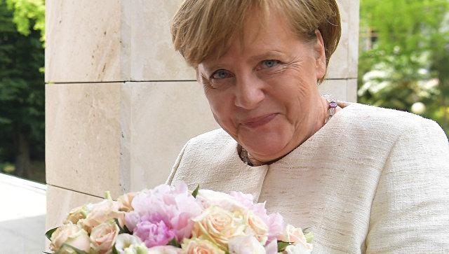 Федеральный канцлер ФРГ Ангела Меркель во время встречи с президентом РФ Владимиром Путиным в Сочи. 18 мая 2017