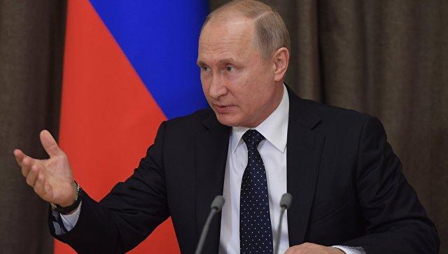 Президент РФ Владимир Путин на совещании по вопросам развития Вооруженных сил России. 18 мая 2018