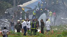 На месте крушения самолета Boeing 737 авиакомпании Cubana de Aviacion в Гаване, Куба. Архивное фото