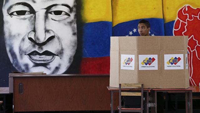 Во время президентских выборов в Каракасе, Венесуэла. 20 мая 2018
