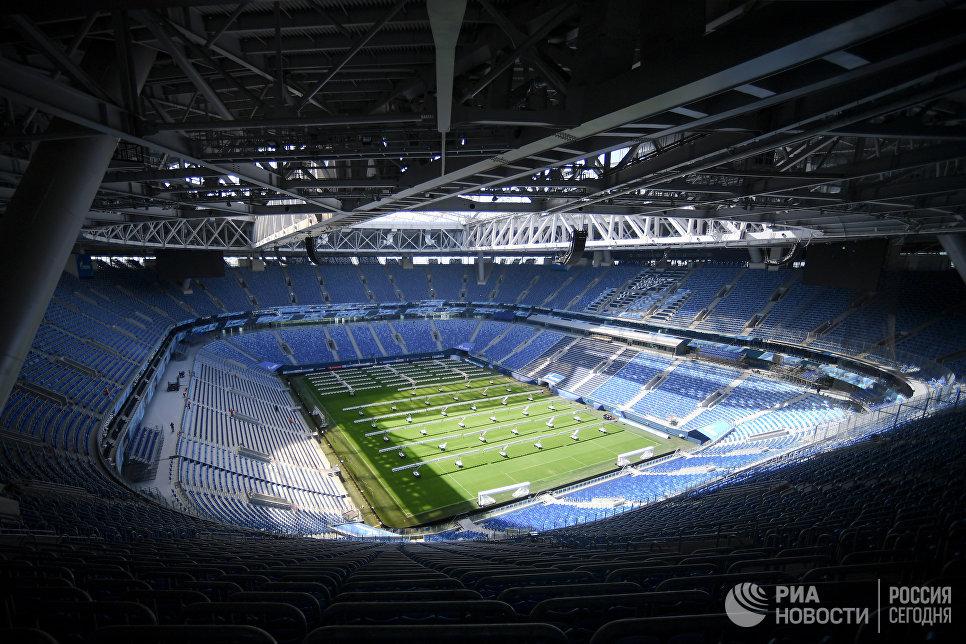 Стадион Санкт-Петербург, где пройдут матчи чемпионата мира по футболу 2018Стадион Санкт-Петербург