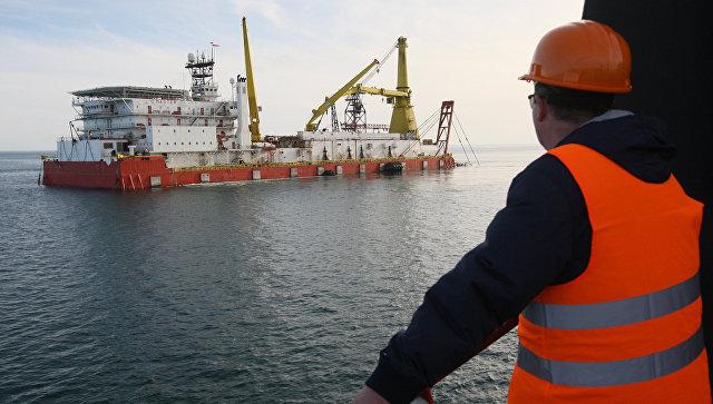 Строительство газопровода на Черном море. Архивное фото