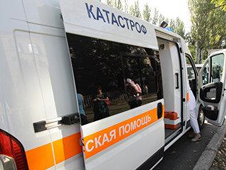 Автомобиль скорой помощи в Донецке. Архивное фото