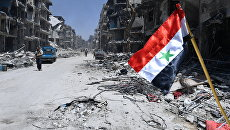 Флаг Сирии. Архивное фото