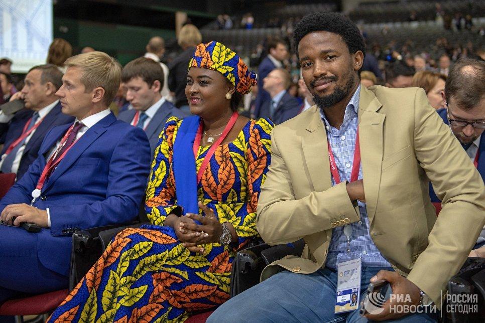 Участники во время торжественного открытия Петербургского международного экономического форума