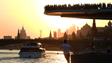 Парящий мост парка Зарядье в Москве. Архивное фото