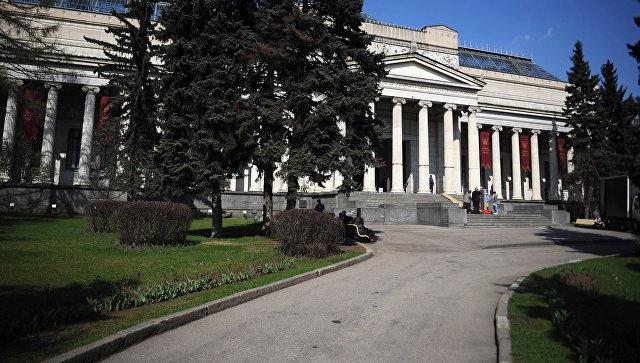 Здание Государственного музея изобразительных искусств имени А.С. Пушкина в Москве. Архивное фото