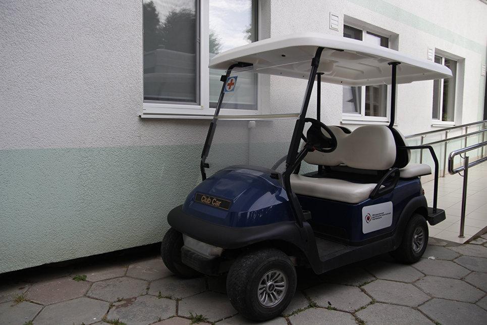 Электромобиль для гостей лагеря