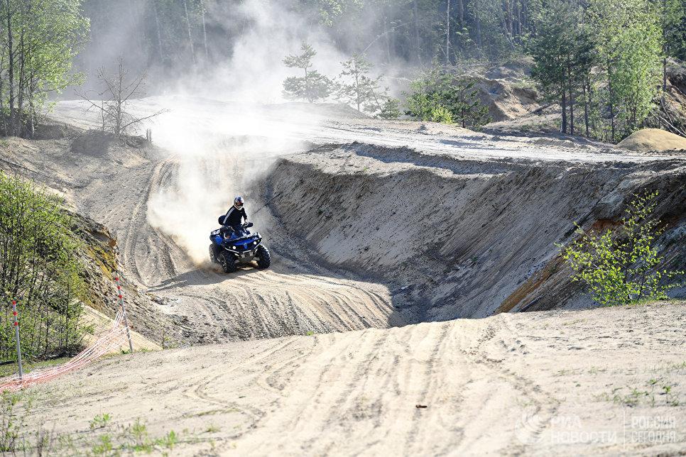 В каньоне Центра активного отдыха «Терра Нордика».