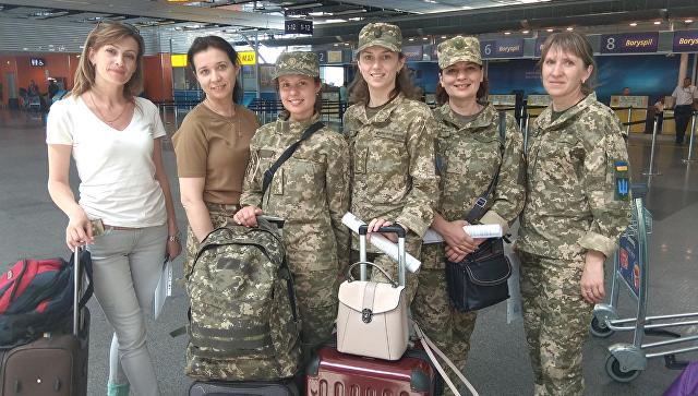 Прибывшая группа пострадавших служащих ВСУ для 3-недельной реабилитации в Эстонии
