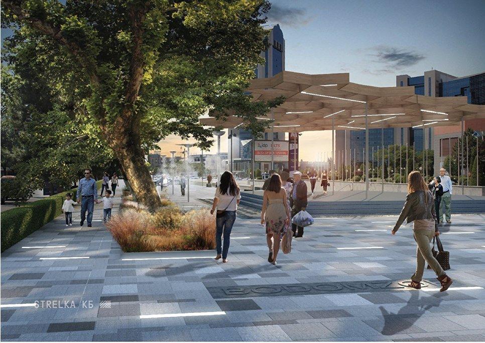 Визуализация проекта благоустройства улицы в Ташкенте