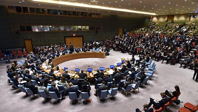 На заседании Совета Безопасности ООН. Архивное фото