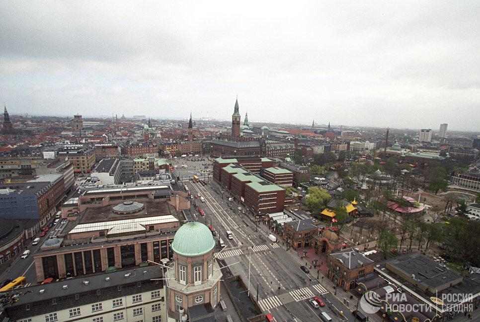 Дорожное движение в центре Копенгагена