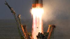 Пуск ракеты-носителя на космодроме Байконур. Архивное фото