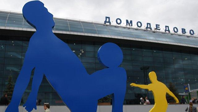 Арт-объекты, установленные к чемпионату мира по футболу 2018, около аэропорта Домодедово
