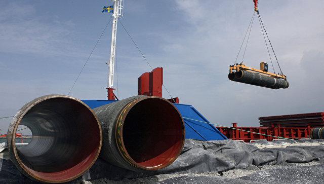 Подготовка к прокладке труб газопровода по дну Балтийского моря. Архивное фото