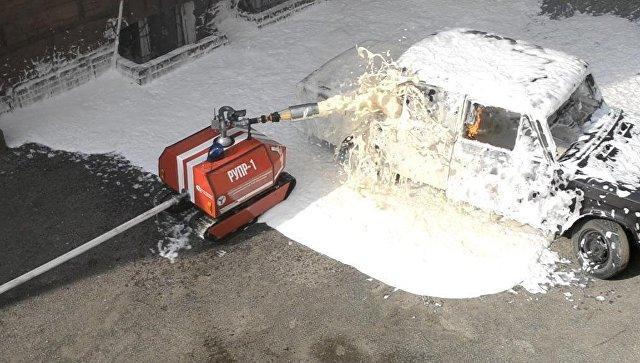 Саратовские ученые создали уникального радиоуправляемого робота-пожарного