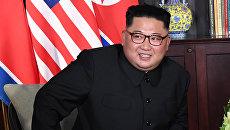 Ким Чен Ын на саммите с Трампом в Сингапуре. 12.06.2018