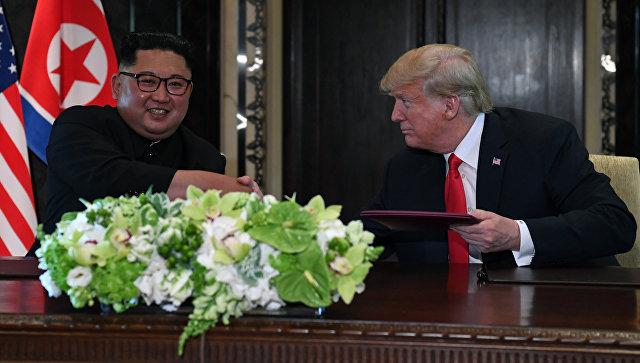 Трамп назвал Ким Чен Ына забавным и прекрасным парнем