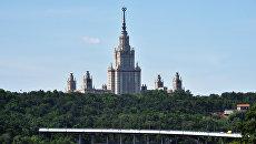 Высотное здание МГУ имени Ломоносова. Архивное фото