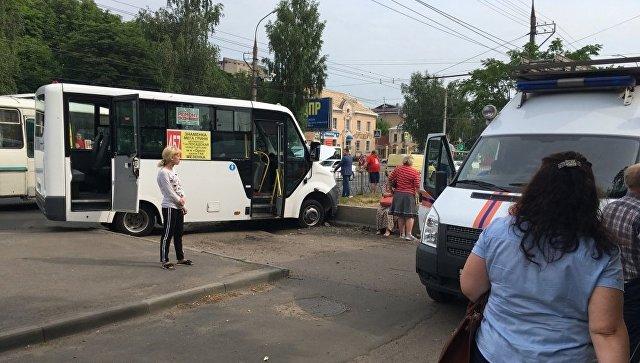 ДТП с маршрутным автобусом в Орле. 19 июня 2018